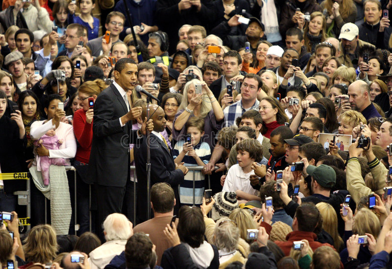 Barack Obama que habla en Colorado imagen de archivo