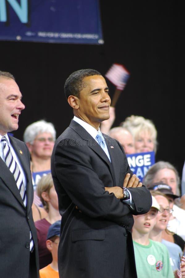 Barack Obama rally stock photos