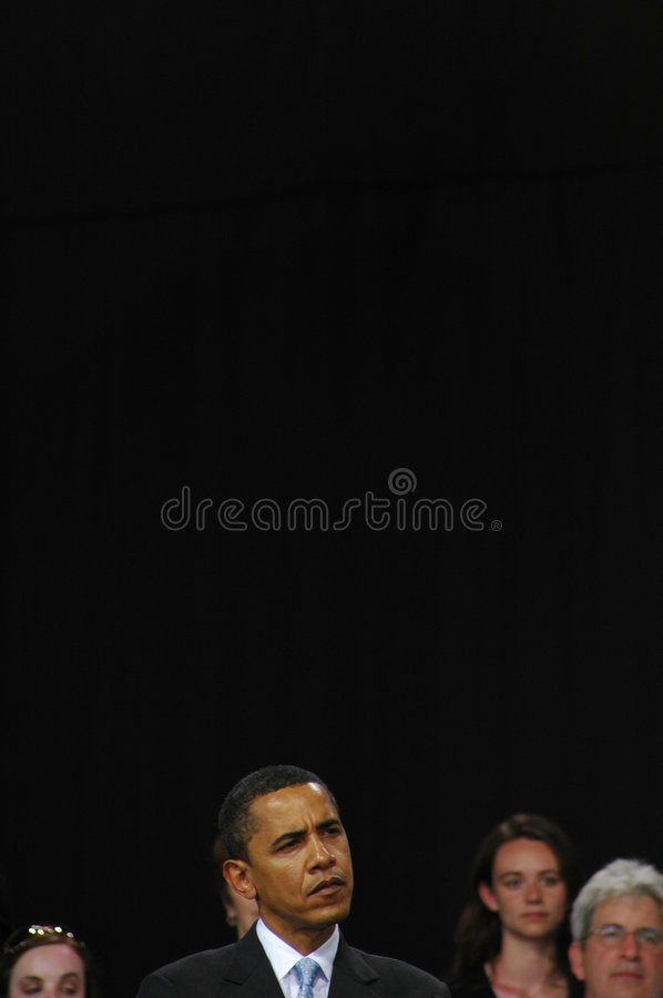 Barack Obama rally royalty free stock photography