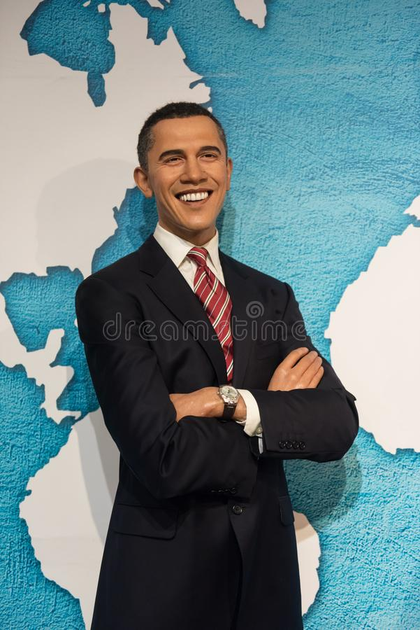 Barack Obama, sculpture en cire, Madame Tussaud photographie stock libre de droits