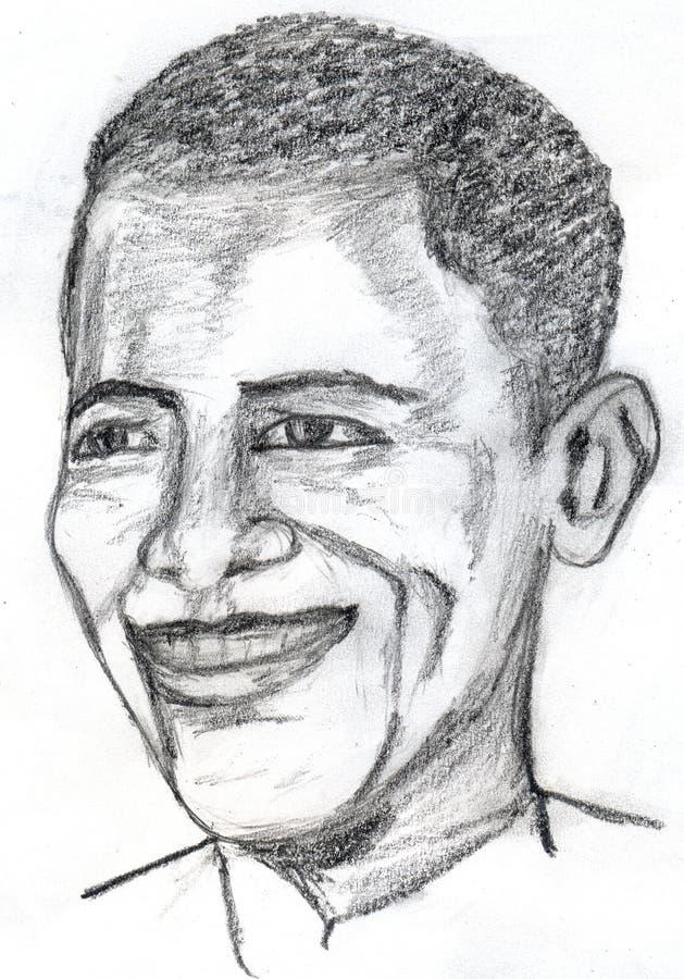 Barack Obama Skizze vektor abbildung