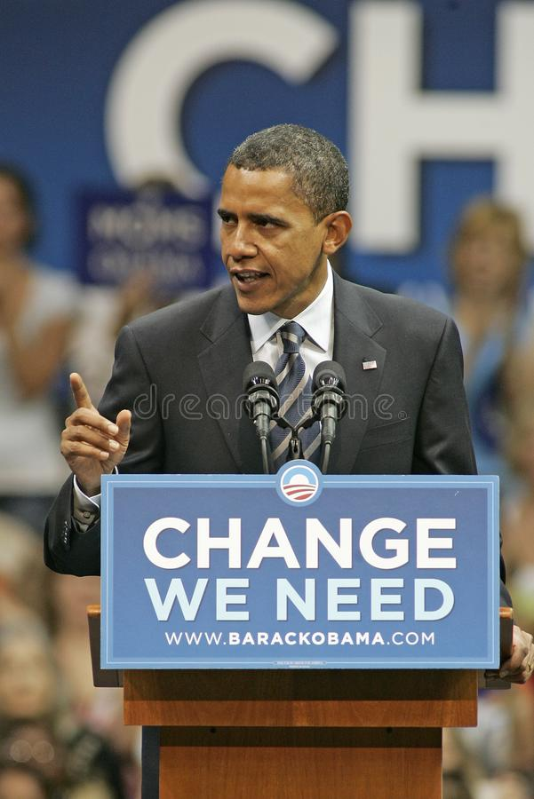 Barack Obama Speaks at a Rally royalty free stock photo