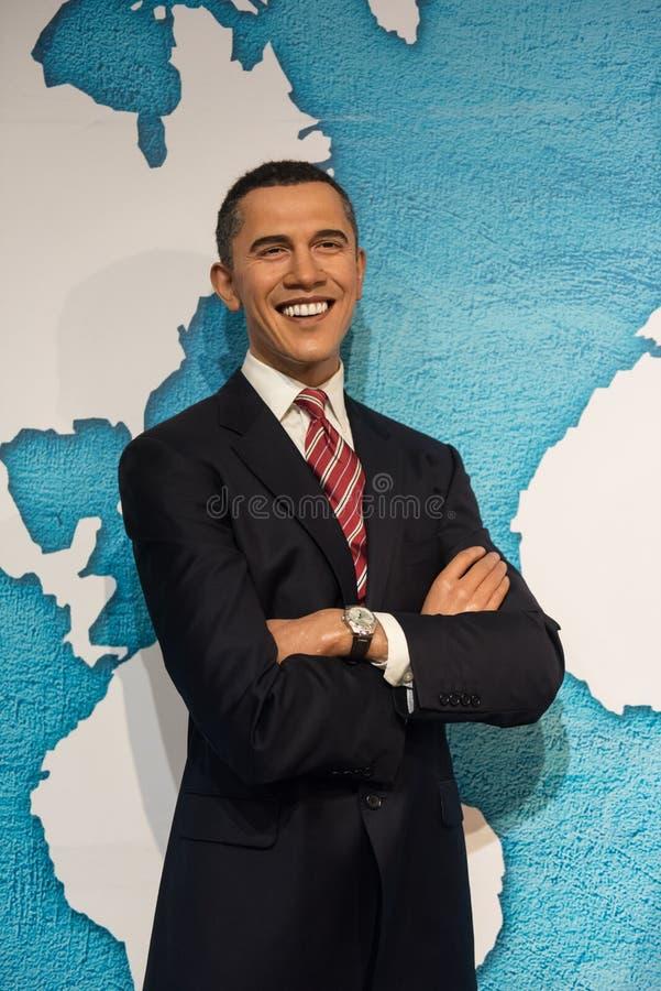 Barack Obama vaxskulptur, madam Tussaud royaltyfri fotografi