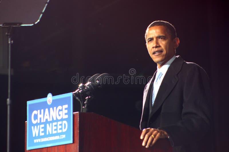 Barack Obama a Virginia Beach fotografia stock