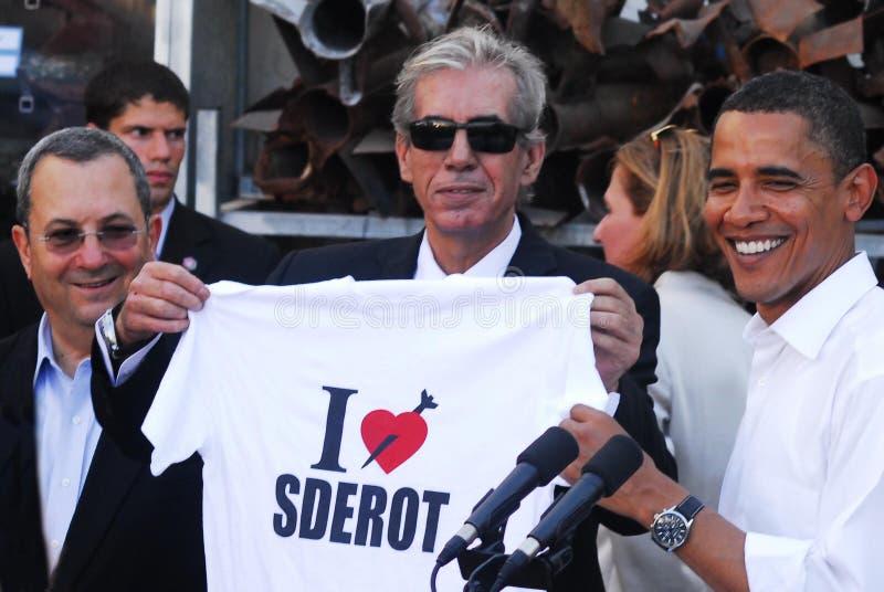 Barack Obama Visit vers l'Israël photos stock
