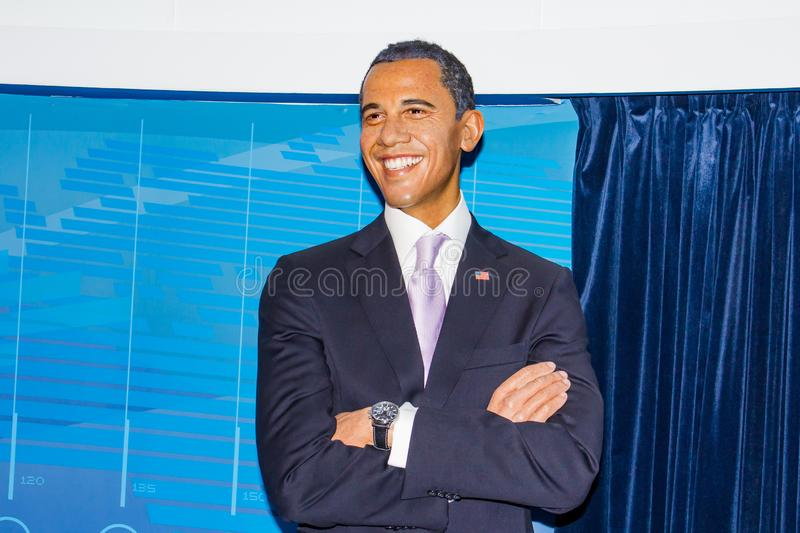 Barack Obama wax figure, Madame Tussaud`s Museum Vienna. Arack Hussein Obama II is an American attorney and politician who served as the 44th president of the stock image