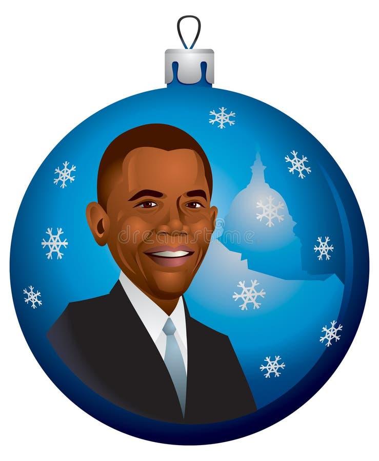Barack Obama Weihnachtsverzierung im Vektor lizenzfreie stockfotografie