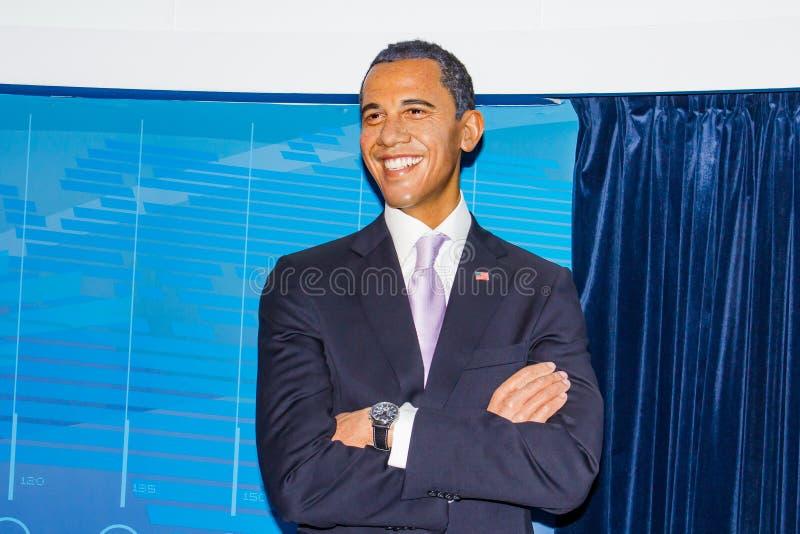 Barack Obama wosku postać, Madame Tussaud's Muzeum Wiedeń obraz stock