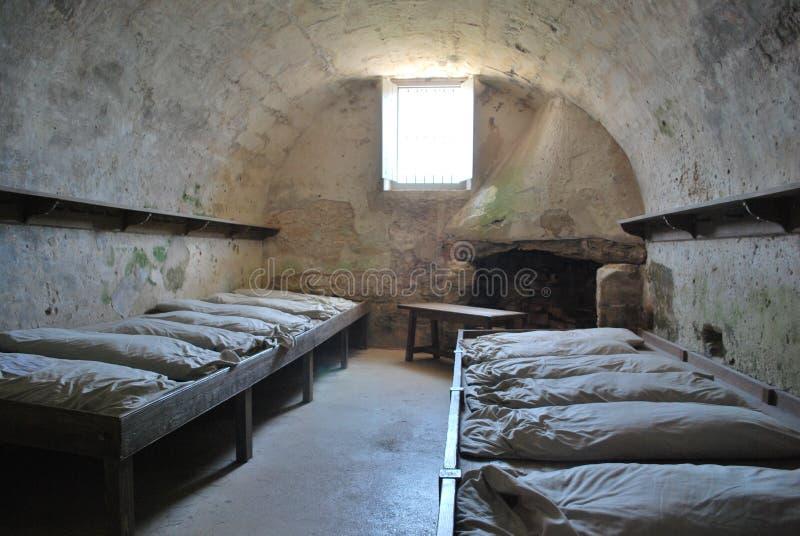 Baracker på det gamla fortet, St Augustine royaltyfri foto