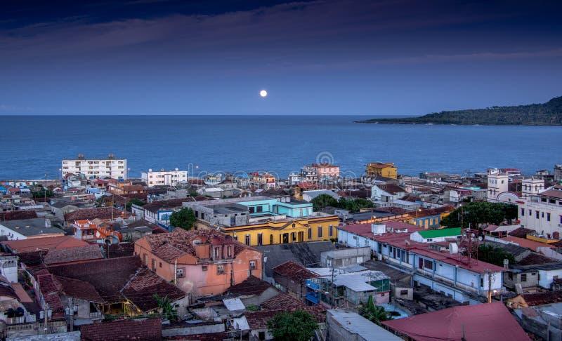 Baracoa Cuba en la noche fotos de archivo