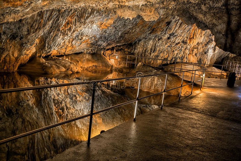 Baradle Cave in Aggtelek National Park in Hungury stock photo