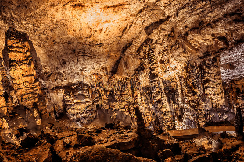 Baradle Cave in Aggtelek National Park in Hungury royalty free stock images