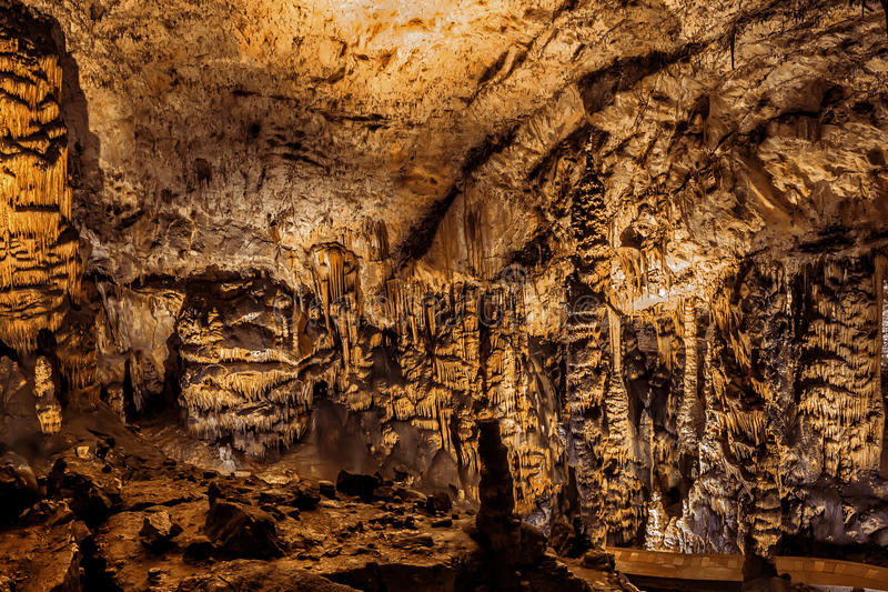 Baradle Cave in Aggtelek National Park in Hungury royalty free stock image