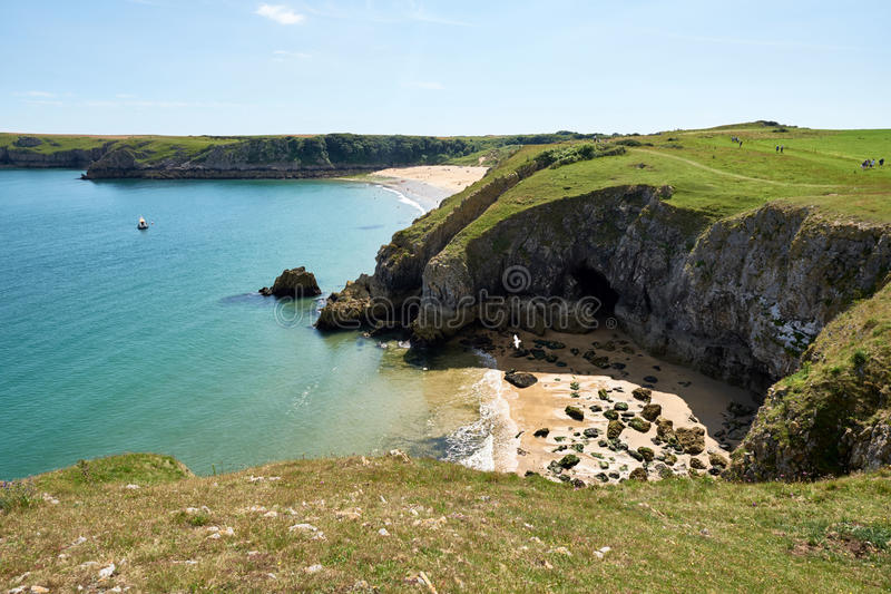 Barafundle Beach,Bay near Stackpole,Pembrokeshire,Wales,U.K stock images