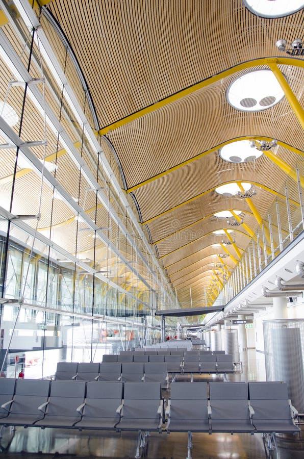 Barajas flygplats - Madrid, Spanien arkivbilder