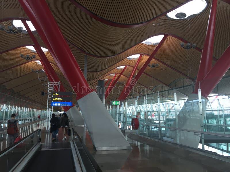 Barajas flygplats Madrid Spanien royaltyfria foton