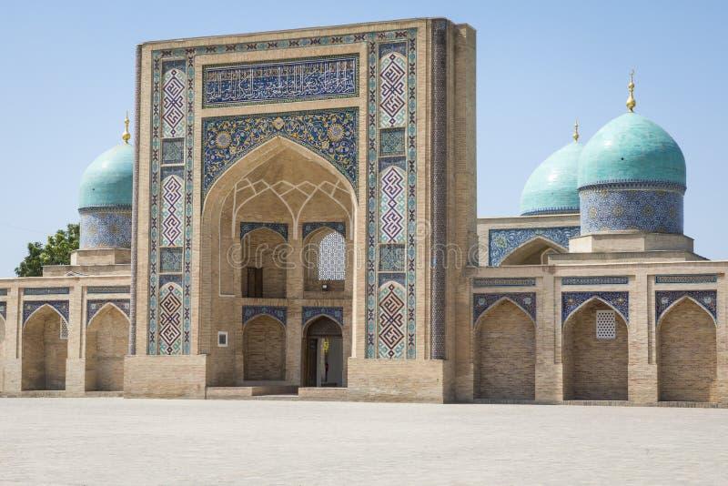 Barak Khan madrasah. Hast Imam Square Hazrati Imam is a religi royalty free stock images