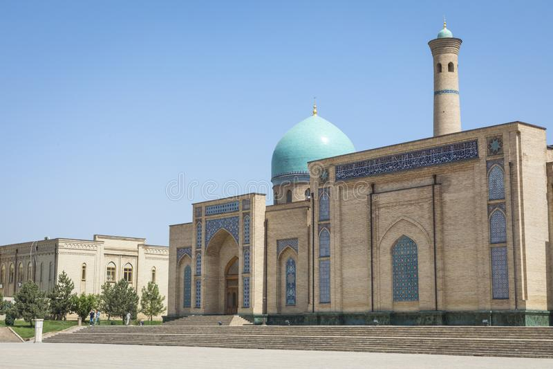 Barak Khan madrasah. Hast Imam Square Hazrati Imam is a religi royalty free stock photos