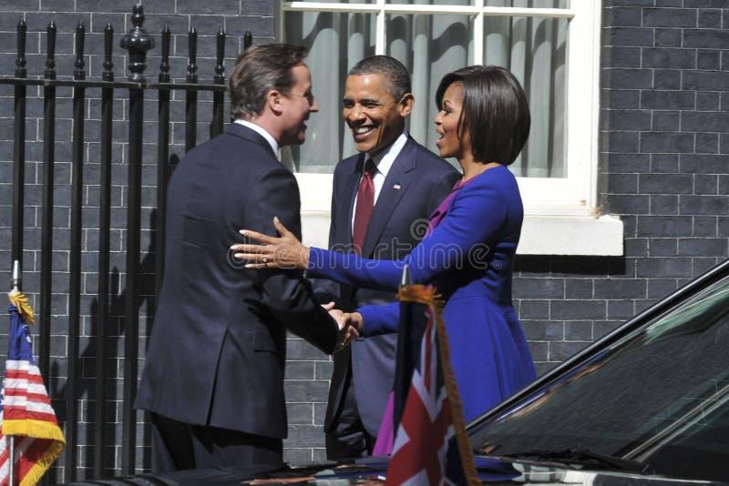 BARAK OBAMA, Давид Cameron, Мишель Obama стоковое изображение rf