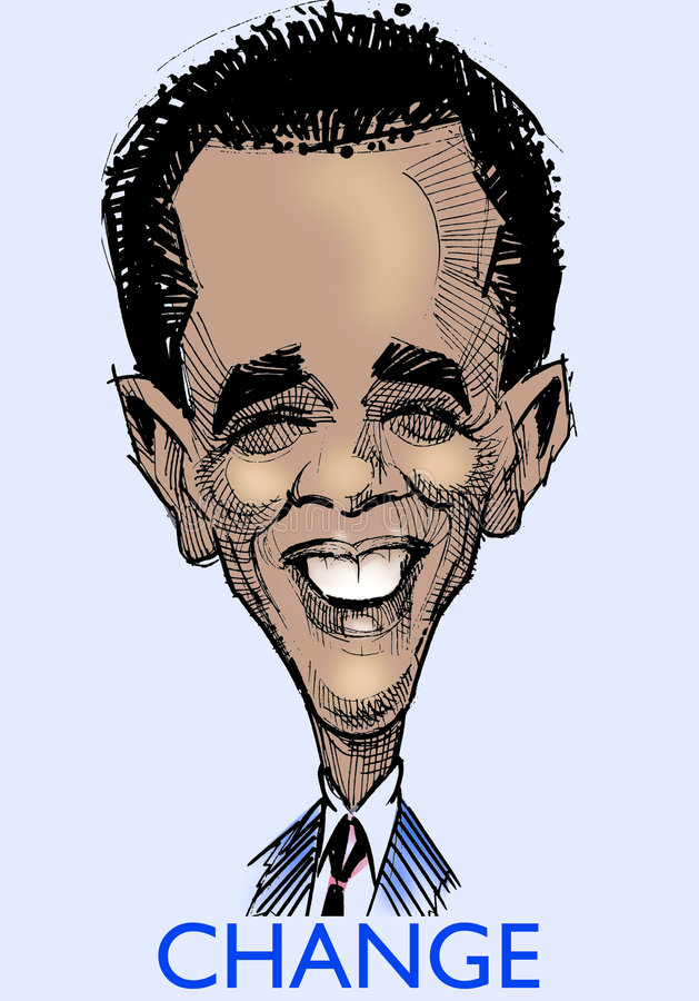 Barak Obama caricature  s