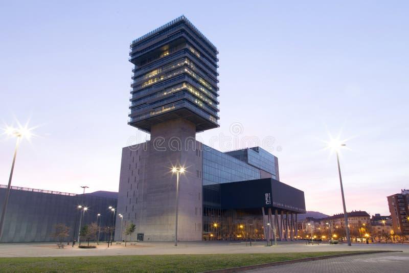BARAKALDO, BASQUE COUNTRY, SPAIN, MARCH 01, 2016: The Bilbao Exhibition. BARAKALDO, BASQUE COUNTRY, SPAIN, MARCH 01, 2016: View of the city of Barakaldo. The stock photography