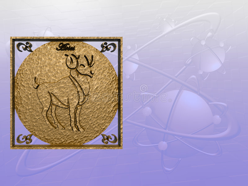 baran horoskop royalty ilustracja