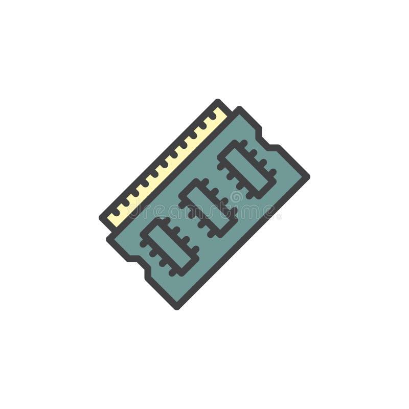 Baran pamięci konturu wypełniająca ikona ilustracja wektor