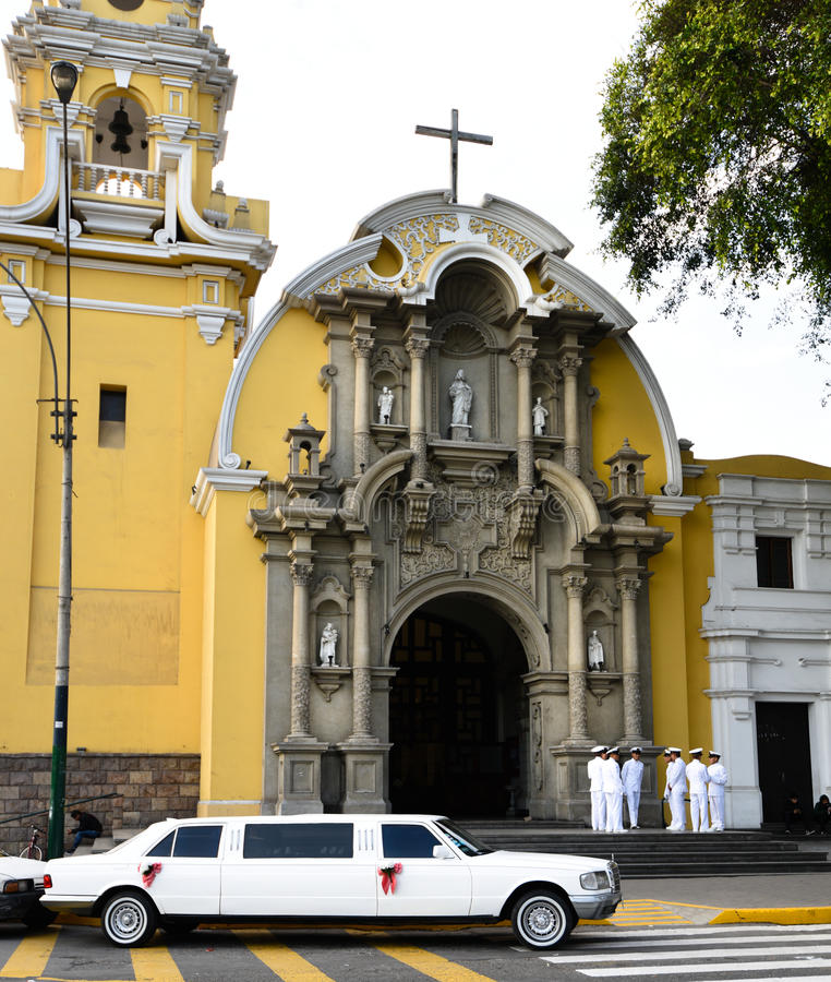Baranco利马秘鲁教会 库存照片