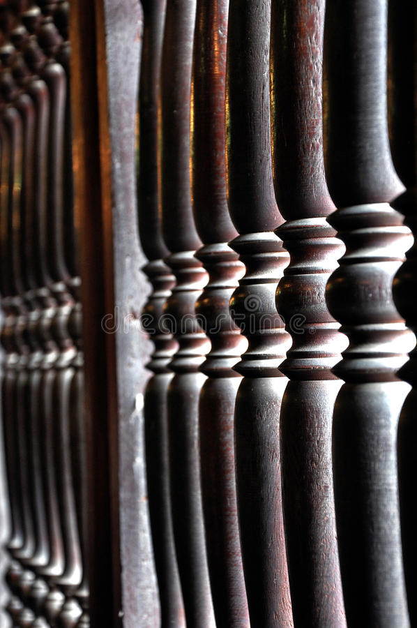 Barandilla de madera imágenes de archivo libres de regalías