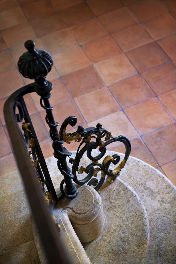 Barandilla del hierro labrado imagen de archivo libre de regalías