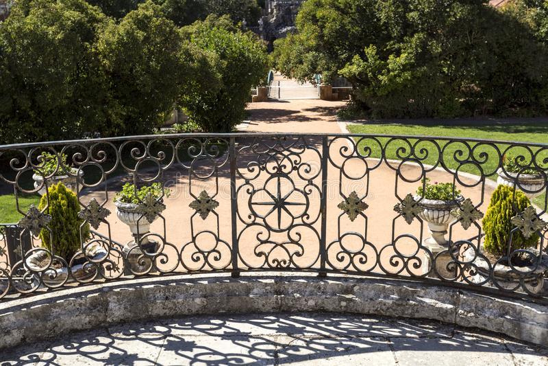 Barandilla del palacio de Oeiras imagen de archivo