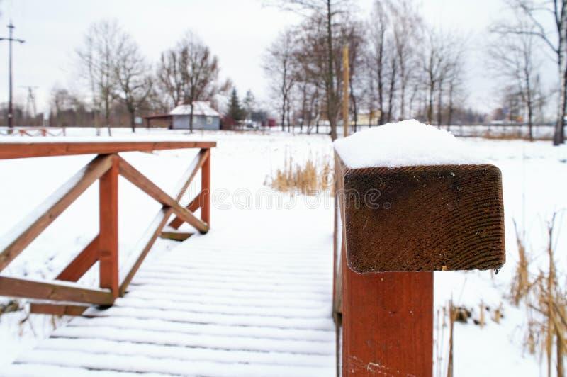 Barandilla nevada fotos de archivo