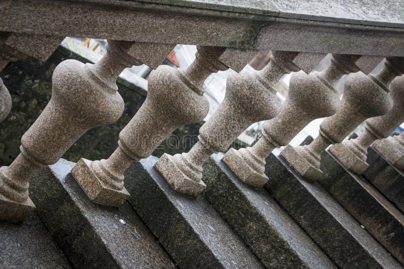 Barandilla semicircular del balcón fotos de archivo