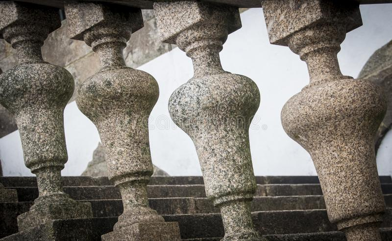 Barandilla semicircular del balcón fotografía de archivo libre de regalías