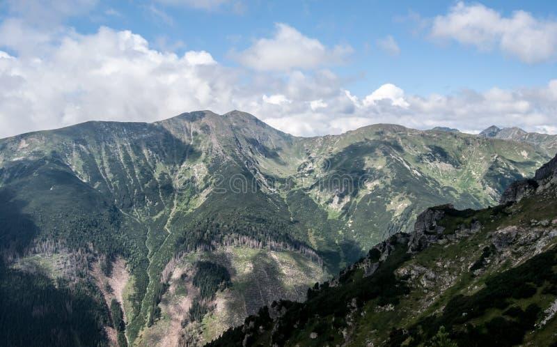Baranec mountain ridge with highest Baranec peak in Western Tatras mountains in Slovakia stock photography