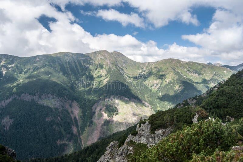 Baranec mountain ridge with highest Baranec peak in Western Tatras mountains in Slovakia stock photo