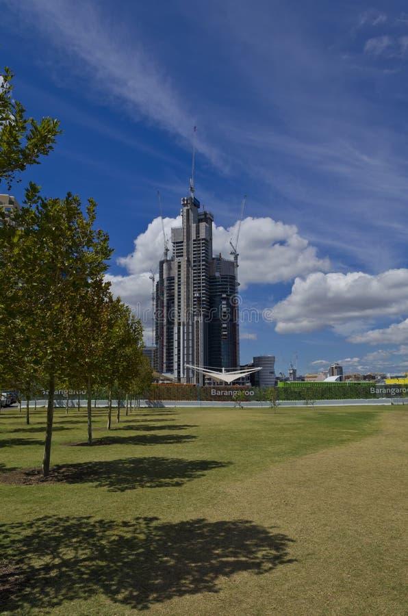 Barangaroo wierza budowa od parka obrazy royalty free