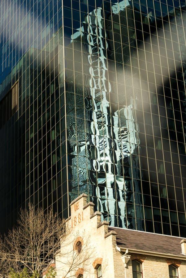 Barangaroogebied Sydney Reflections royalty-vrije stock afbeeldingen