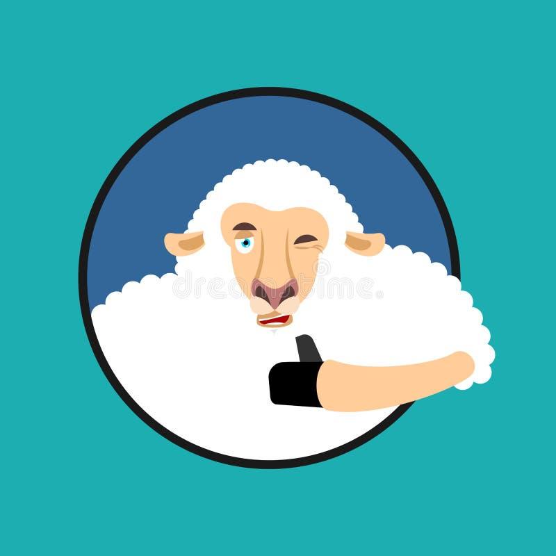 Barani aprobat i mrugnięć emoji Ewe szczęśliwy emoji 7 zwierzęcia kreskówki gospodarstwa rolnego ilustraci serii ilustracji