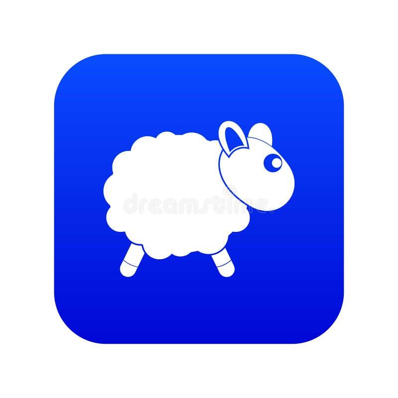 Baraniej ikony cyfrowy błękit royalty ilustracja