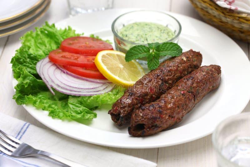 Baraniny seekh kabab obraz royalty free