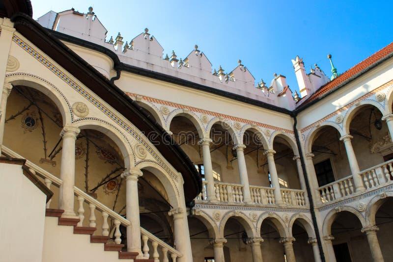 Baranow Sandomierski, palacio de los exteriores en Baranow Sandomierski, Polonia, llamó a menudo pequeño Wawel fotografía de archivo libre de regalías