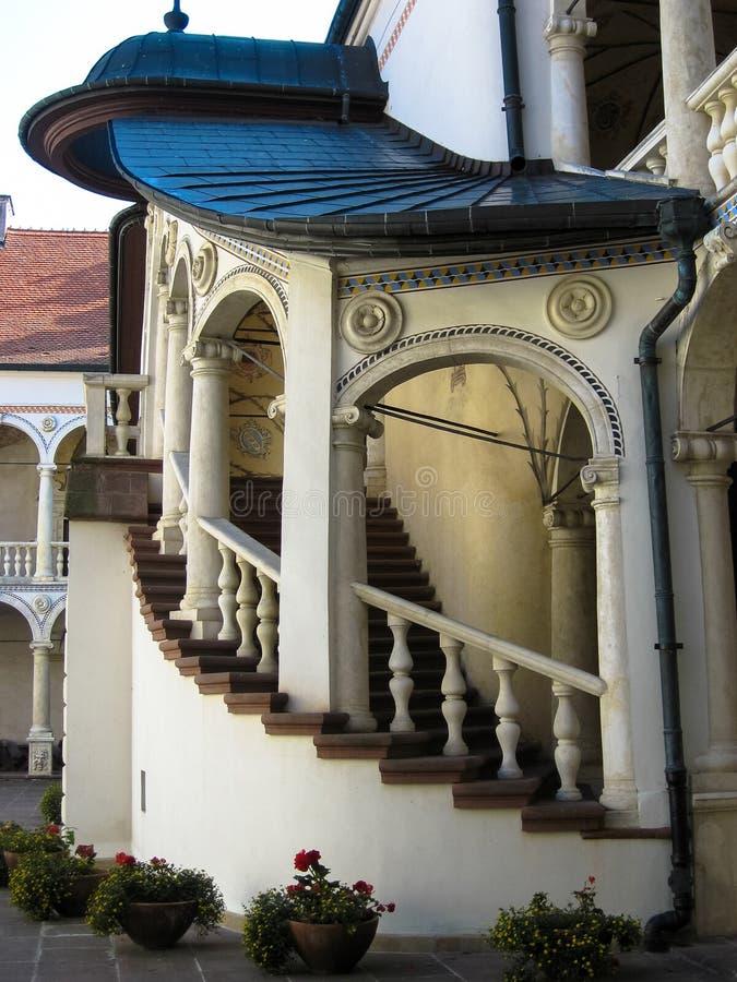 Baranow Sandomierski, palacio de los exteriores en Baranow Sandomierski, Polonia, llamó a menudo pequeño Wawel imágenes de archivo libres de regalías