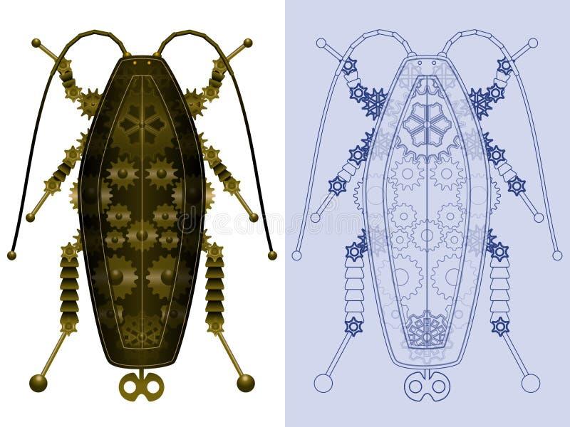 Barata mecânica ilustração royalty free