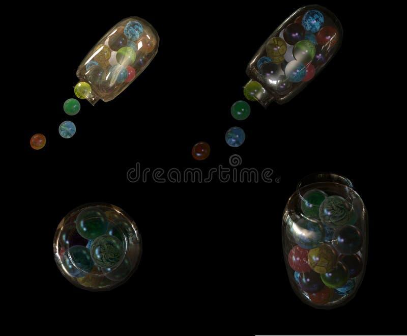 Barattolo dei gumballs 3d illustrazione vettoriale