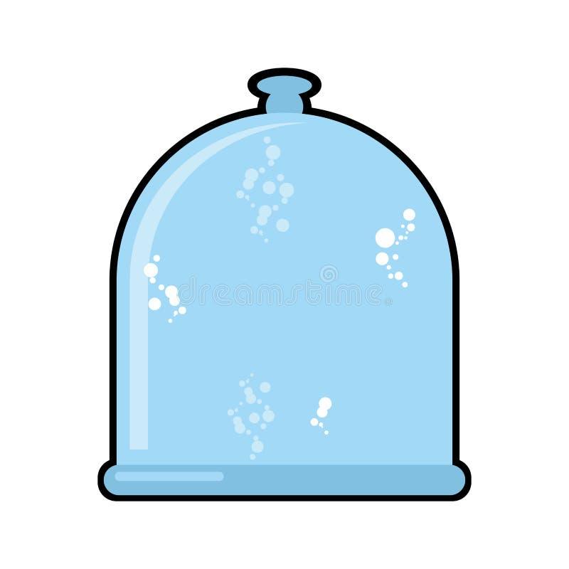 Barattolo del laboratorio Campana di vetro Cristalleria per l'esperimento scientifico illustrazione di stock