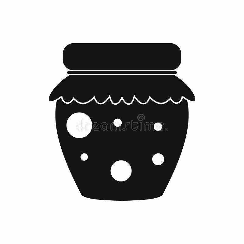 Barattolo dell'icona fruttata dell'inceppamento, stile semplice illustrazione vettoriale
