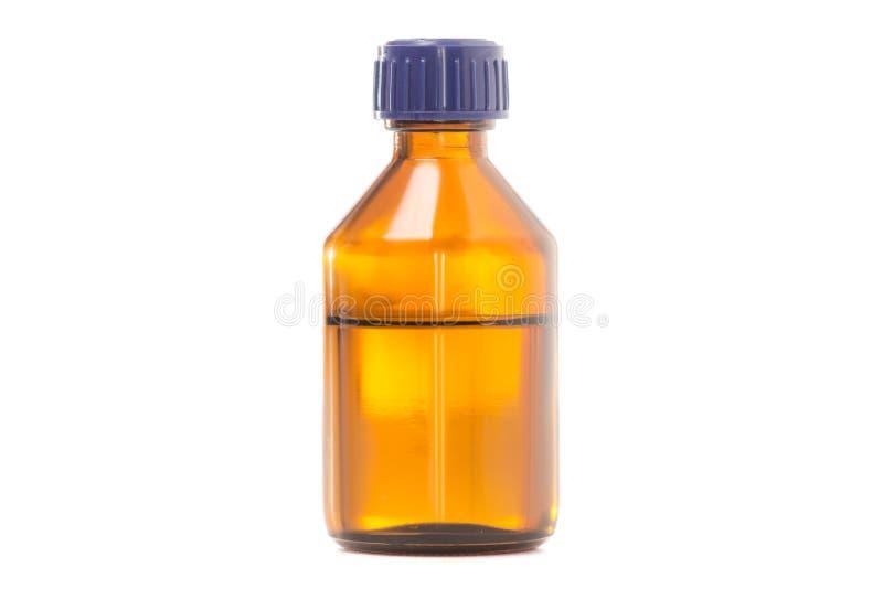 Barattolo di vetro con la medicina dell'alcool immagine stock libera da diritti