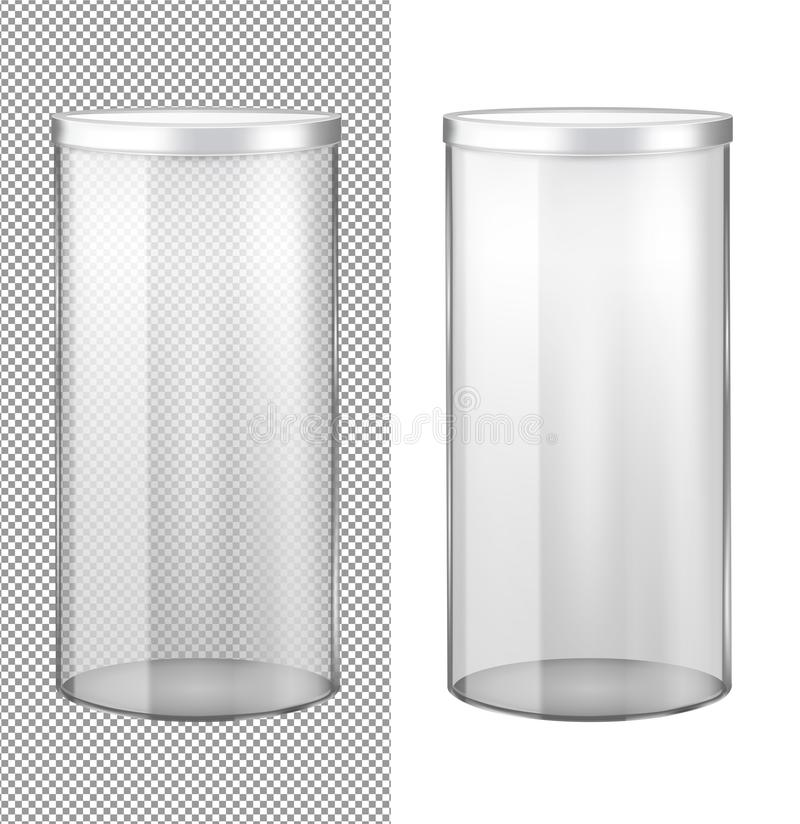Barattolo di vetro trasparente con il coperchio del metallo royalty illustrazione gratis