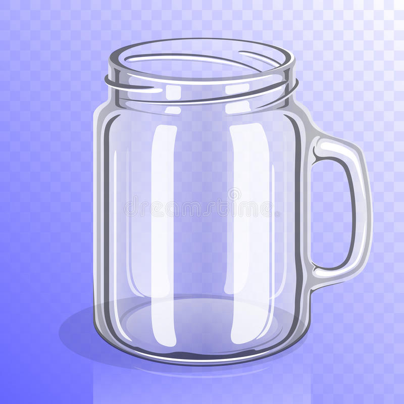 Barattolo di vetro vuoto con la maniglia illustrazione vettoriale